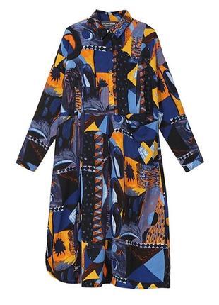 Роскошное дизайнерское платье с невероятным принтом5 фото