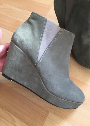 Замшевые сапоги ботинки asos