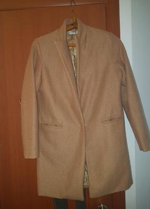 Пальто кардиган горчичного цвета
