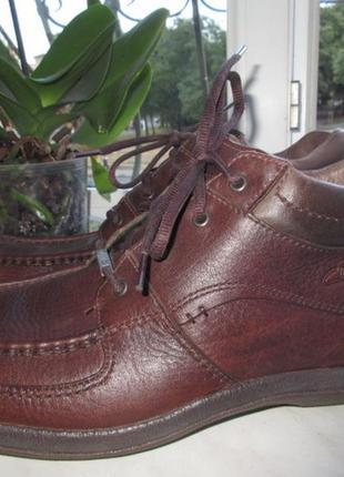 Кожаные деми ботинки clarks gore-tex 44 р