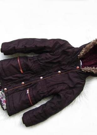 Стильная демисезонная парка куртка с капюшоном f&f