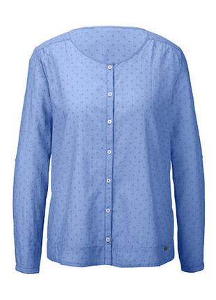 Новая легкая нежная рубашка из органического хлопка тсм tchibo германия, р. 44 евро 50-52