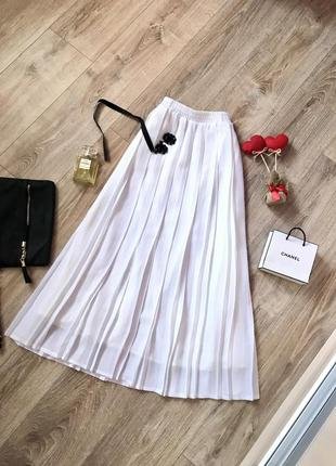 Обалденная белая плиссированная юбка ,длина миди 💣
