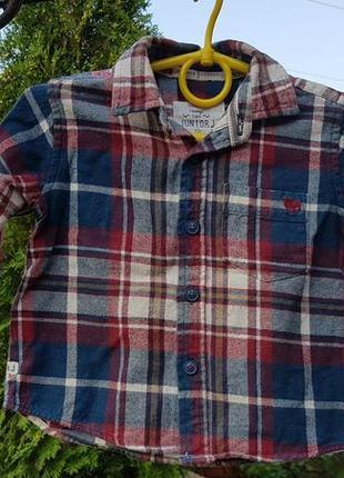 Прикольная рубашка р.12-18м