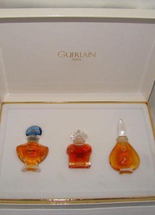 Набор духов guerlain shalimar, chamade, lheure bleue. оригиналы