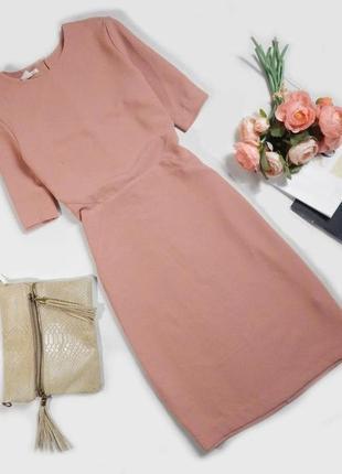 Платье футляр чехол с вырезом на спинке h&m