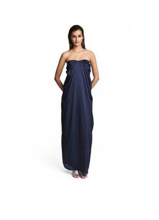 Атласное нежное макси платье h&m с открытой спинкой