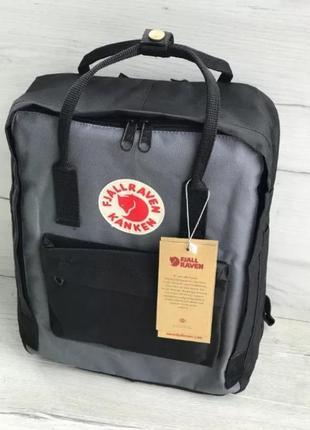 Рюкзак fjallraven kanken канкен портфель сумка classic 16 литров черный серый