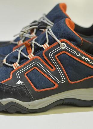 Треккинговые кроссовки quechua crossrock jr ndy blue-orange