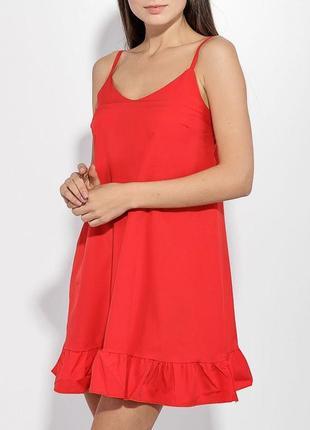 Новый летний мини сарафан/ платье свободного кроя с рюшами