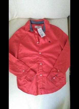 Коттоновая рубашка фирмы h&m