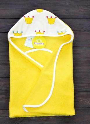 Полотенце уголок после купания plamka принцесса (желтое)