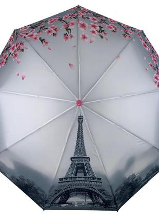 Женский зонт-полуавтомат flagman с эйфелевой башней, 744-1