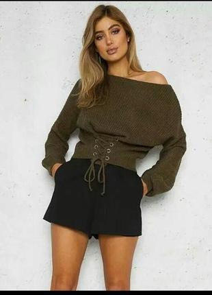 Женская кофта , женский свитер с завязками