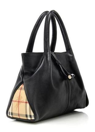 Burberry. оригинал. кожаная сумка тоут.
