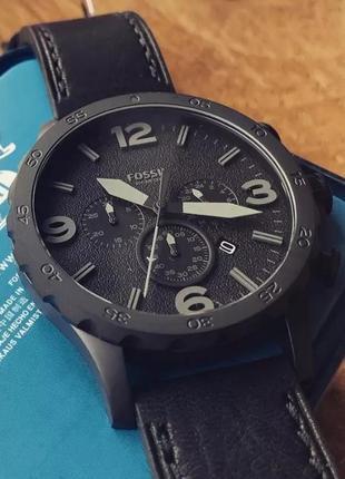 Мужские часы хронограф fossil nate jr1354