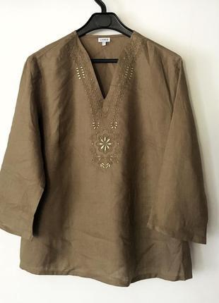 Очень красивая блуза из льна