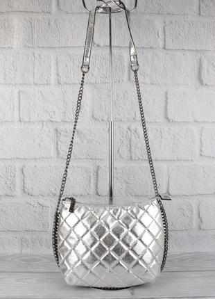 Клатч, сумочка через плечо valensiy 20910-11 серебристая