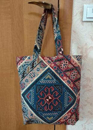 """Отличная эко-сумка, сумка-шоппер """"традиции украины"""" ручной работы1 фото"""