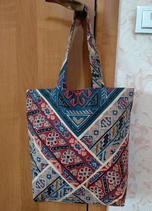 """Отличная эко-сумка, сумка-шоппер """"традиции украины"""" ручной работы2 фото"""