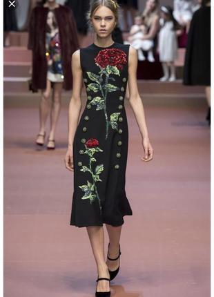 Платье в стиле d&g, gucci