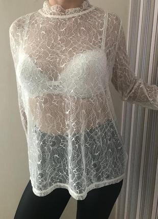 Блуза кружевная нарядная next 16