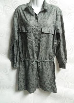 Стильное лёгкое фирменное платье с заниженной талией