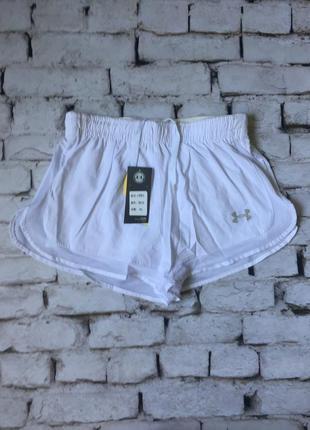 Женские спортивные белые шорты ундер армор under armour