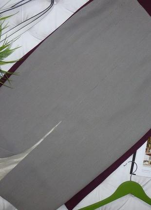 29% шерсть - стильная юбка с разрезом
