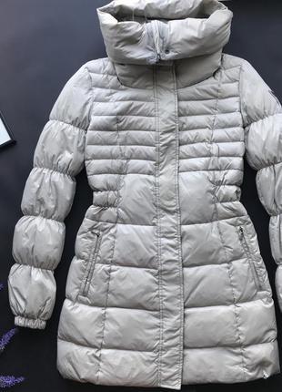 Оригинальная серая куртка пуховик guess / зимняя куртка дутик