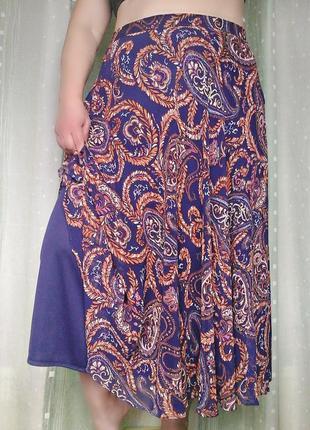 Роскошная шифоновая юбка на трикотажно подкладке