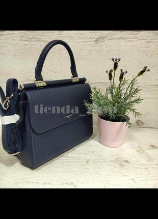Стильная женская сумка через плечо / клатч с ручкой david jones 6131-1 синий