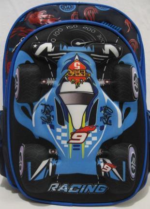"""Школьный рюкзак """" гоночная машина """" (синий) 19-05-126"""