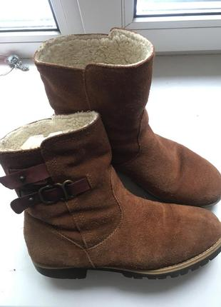 Замшевые кожаные сапоги, ботинки