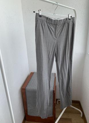 Акция 1+1=3 на всё штаны брюки в полоску серые прямые
