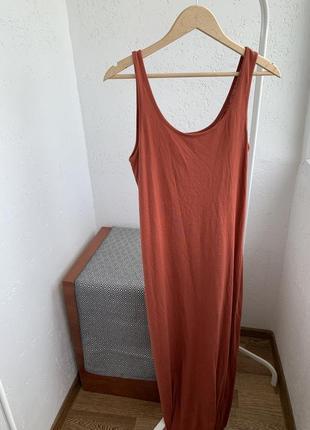 Акция 1+1=3 на всё платья длинне коричневое