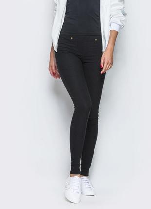 Черные джеггинсы/джинсы/штаны/брюки