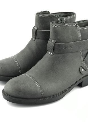 Кожаные демисезонные ботинки ecco