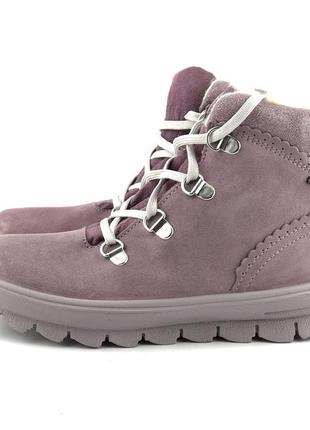 Утепленные ботинки на девочку superfit