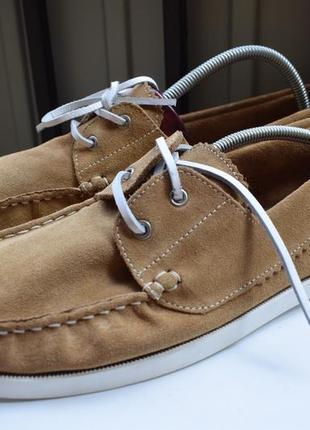 Замшевые туфли мокасины лоферы топсайдеры слипоны