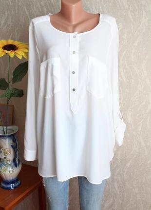 Белая рубашка блуза размер 20 анг. 50 евр.54 нашh&m