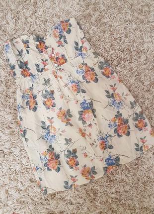 Платье летнее в цветочный принт,открытое,плаття легке літне в квітковий принт