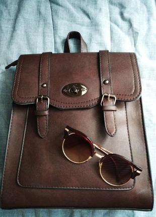 Стильная сумка трансформер рюкзак городской портфель
