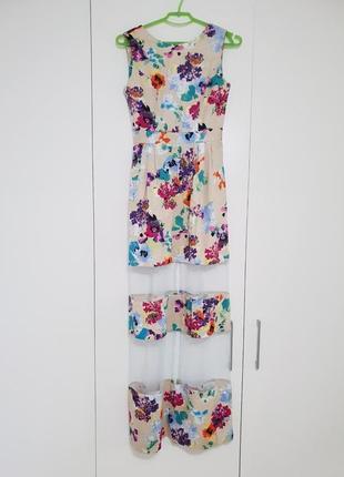 Крутое платье макси с цветочным принтом