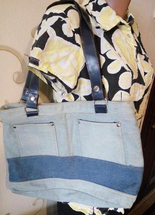 Интересная джинсовая сумка