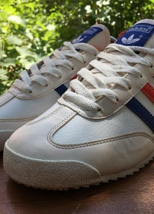 Кроссовки adidas dragon белые,кожаные,легкие р.38 original