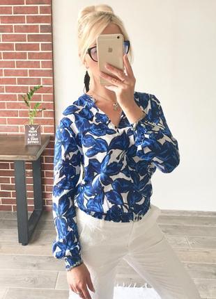 Натуральная блузка в цветочный принт benetton рубашка