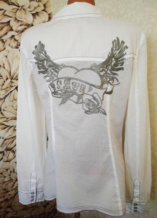 Рубашка, блуза, вышивка крылья, хлопок. 1+1= 50% скидки на 3ю вещь.