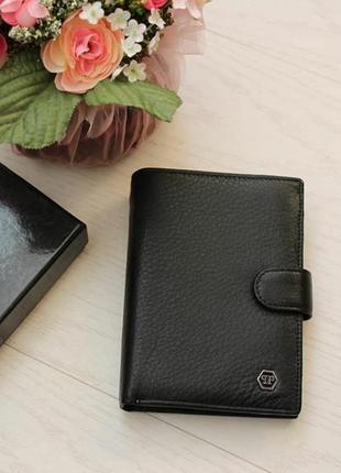 Новое мужское кожаное портмоне, кошелек из натуральной кожи