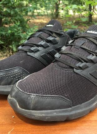 Кроссовки adidas galaxy 4 черные,сеточка,легкие,беговые р.42 original